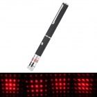 LSON 6B Adjustable 5mW 650nm 6-Pattern Red Laser Pointer - Black (2 x AAA)