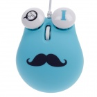 Sibyl Cute Chaplin Style 1000dpi USB Wired 3D Optical Mouse w/ Mouse Pad - Blue + Black + White
