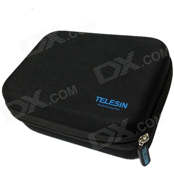 TELESIN Protective EVA Camera Storage Bag for Gopro Hero 4/3+ / HERO3 / HERO2 - Black