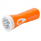 Rechargeable 4-LED White Light Flashlight with UV Flashlight - Orange (90~240V)