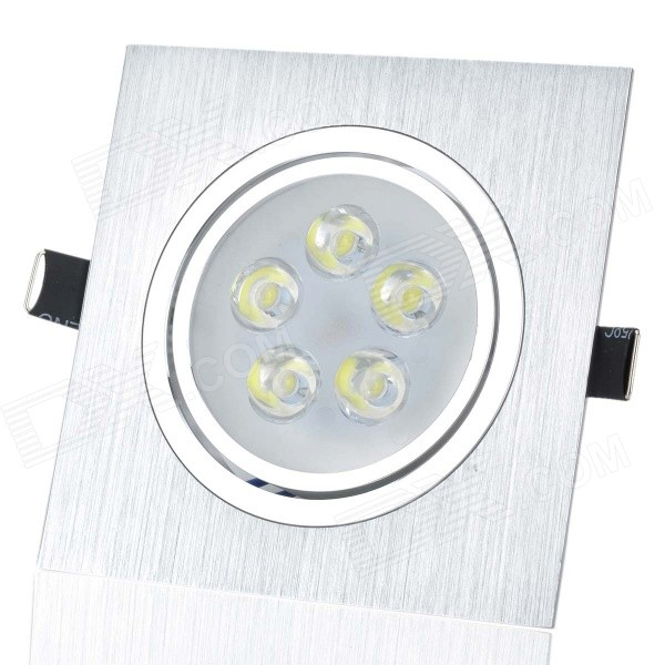 HUGEWIN HSD315 5W 400lm 6000K White Light Ceiling Lamp Spotlight - Silver (85~265V) lexing lx r7s 2 5w 410lm 7000k 12 5730 smd white light project lamp beige silver ac 85 265v