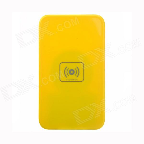 X5 Qi Standard Mobile Wireless Power Charger + i9300 Wireless Charger Receiver - Yellow