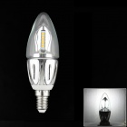 E14 5W 65lm 3000K 20 x SMD 3528 LED Warm White Tip Bulb Energy Saving Lamp - (AC 220V)
