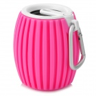Q8 Outdoor Sport Wireless Mini Bluetooth Speaker w/ Microphone - Pink + White