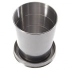 Stainless Steel Retractable Travellers Cup Keychain (Large/185ml)
