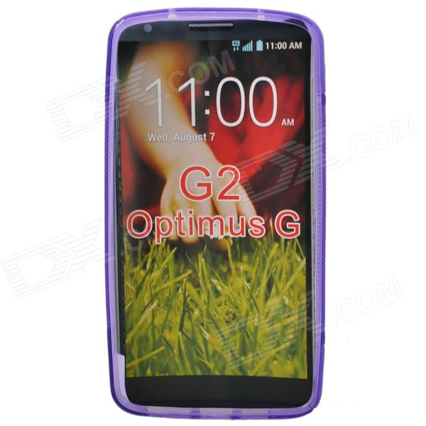 """S"" Style Protective TPU Back Case for LG G2 Optimus G - Purple"