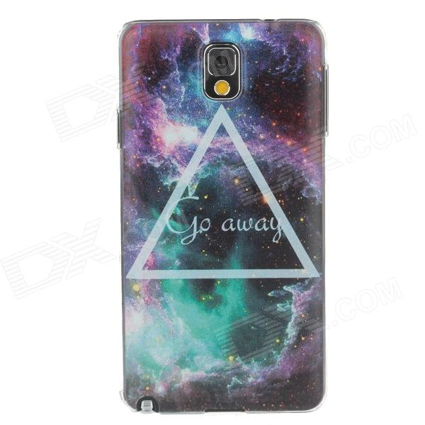 Stylish Galaxy Colored Drawing Pattern Protective Plastic Back Case for Samsung Galaxy Note 3 enkay quick sand style protective plastic back case for samsung galaxy note 4 n9100 blown