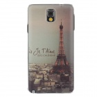 Stylish Colored Drawing Pattern Protective Plastic Back Case for Samsung Galaxy Note 3 N9005 - Grey