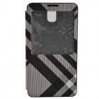 Irregular Texture PU Leather Case cover w/ Visual Window for Samsung Galaxy Note 3 - Black + Gray