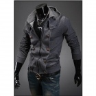 Casual Slim Fit Hooded Coat - Dark Grey (Size-L)