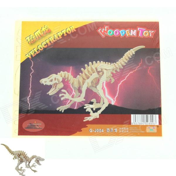 Wooden Assembling Deinonychus Model - Burlywood