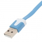 Flat Micro USB Male to USB 2.0 Male Data Sync / Charging Cable for Samsung + More - Blue (300cm)