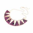 Exaggerated All-match Leopard Figure Metallic Women's Necklace - Purple + Golden