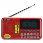 "SAST AY-F69 1.7"" Large Display FM Radio Receiver / MP3 Player w/ TF / USB - Red"