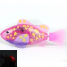 Flash Transparent Electronic Fish Pet Toy Robot Fish - Rose + Yellow + Purple (2 x L1154)