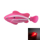 Flash ROBO Flash Electric Pet Fish Toy - Pink + White + Red