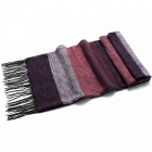 Stylish Men's Striped Fringed Scarf - Multicolored