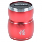 SAST AY-V86 Auspicious Drum Style Portable Multi-Media Mini Speaker w/ TF / FM Radio - Red