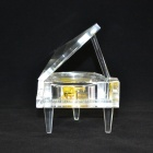 DEDO Music Box Gifts MG-349 Transparent Crystal Piano Music Box