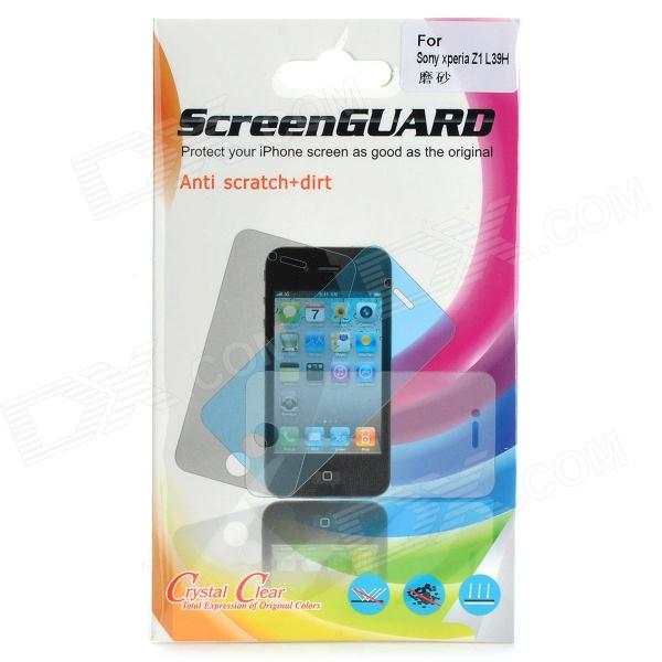 Protective Matte Screen Protector Guard Film for Sony Xperia Z1 / L39h - Transparent (5 PCS)