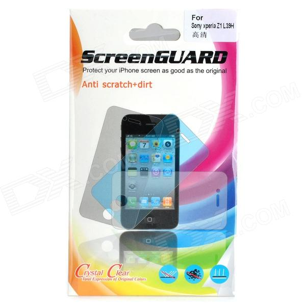 Protective PE Clear Screen Protector Film for Sony Xperia Z1 / L39h - Transparent (5 PCS)