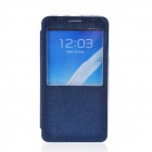 TEMEI Protective PU Leather + TPU Case Stand w/ Visual Window for Samsung Galaxy Note 3 - Deep Blue
