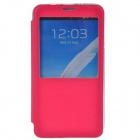 TEMEI Protective PU Leather + TPU Case Stand Cover w/ Visual Window for Samsung Galaxy Note 3 - Red