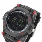 Spovan Mingo-II-R-B Sport Digital Quartz Wrist Watch - Black + Red