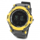 Spovan Mingo-II-Y-B Sport Digital Quartz Wrist Watch w/ Barometer Altimeter + More - Grey + Yellow