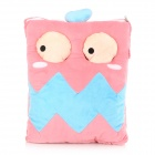 E-Warmer F2103 Cute Big Mouth Pattern USB Powered Feet Warmer Cushion - Pink + Blue