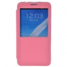 TEMEI Protective PU Leather + TPU Case Stand w/ Visual Window for Samsung Galaxy Note 3 N9000 - Pink