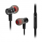 Jolly Roger E100 Stylish In-Ear Earphones w/ Microphone / Cable Control - Black