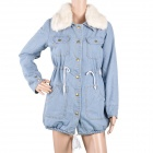 Women's Casual Long Sections Warm Denim Cotton Coat