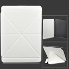 Transformable Protective PU Leather + Plastic Case for Ipad AIR - White