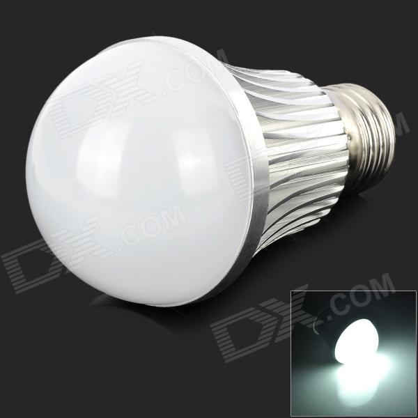 LeXing LX-QP-14  E27 7W 540lm 6500K 14-SMD 5730 LED White Bulb - White + Silver (AC 85~265V) lexing lx qp 20 e14 6w 470lm 3500k 15 5730 smd led warm white light dimmable lamp ac 220 240v