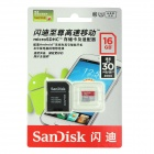Sandisk Ultra MicroSDHC / TF Memory Card w/ TF to SD Card Adapter - Red + Grey (16GB / Class 10)