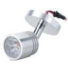 Hugewin SDJ403M 3W 180lm 6500K White Spot Light w/ Base - Silver (AC 85~265V)