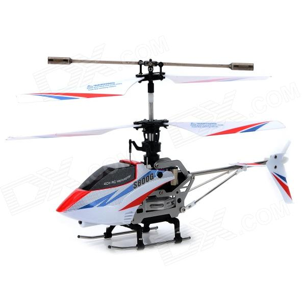 SYMA S800G 4-CH Gyroscope Remote Control Helicopter Toy - White + Red bevle decool 3107 architect series 3 in 1 red helicopter yacht buidling blocks modern kids toy compatible with lepin