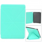 Transformable Protective PU Leather + Plastic Case for Ipad AIR - Turquoise