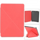 Double Cross Pattern Protective PU + Plastic Case w/ Stand / Auto Sleep for Ipad AIR - Red