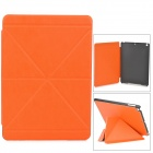 Double Cross Pattern Protective PU + Plastic Case w/ Stand / Auto Sleep for Ipad AIR - Orange