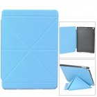 Transformable Protective PU Leather + Plastic Case for Ipad AIR - Sky Blue
