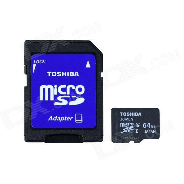 TOSHIBA Micro SDXC Card w/ SD Card Adapter - Black + White (64GB / Class10) джинсы de salitto джинсы