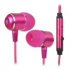 OVLENG iP650 Stylish In-Ear Earphone for Iphone / Ipad / Ipod - Deep Pink + Black