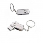 Ourspop U312 Waterproof giratória do metal USB 2.0 Flash Drive vara - prata (32GB)