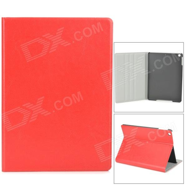 Stylish Protective PU Leather + Plastic Case for Ipad AIR - Red diamond pattern protective pu leather plastic case for ipad air red