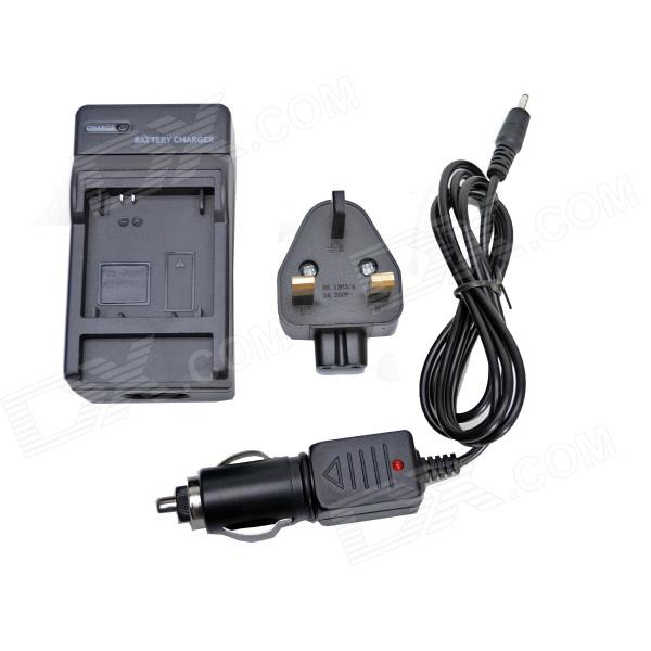 Fat Cat Smart Charger+12-24V Car Charger Travelling Set for Gorpo Hero3+/3 AHDBT-302/301/201-BS Plug