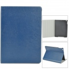 Stylish Protective PU Leather + Plastic Case for Ipad AIR - Blue