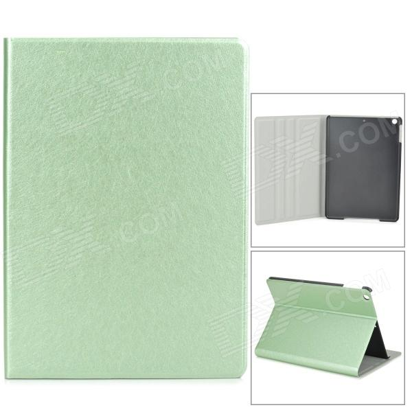 Silk Style Protective PU Leather + Plastic Case for Ipad AIR - Light Green silk style protective pu leather plastic case for ipad air pink