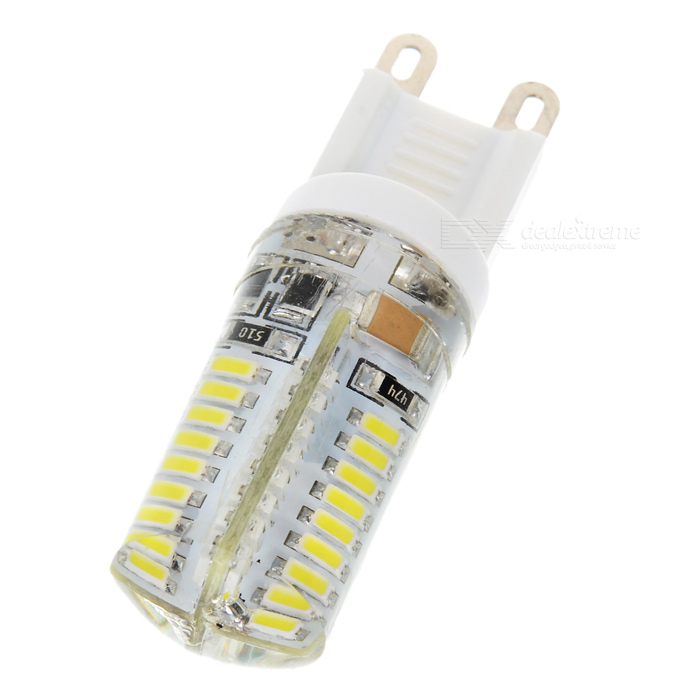 ZY-GG903 G9 3W 180-200LM 6000K White Light 3014 64-LED Lamp Bulb - White + Transparent   (230V)